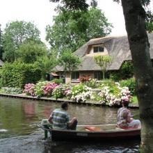 חיטהורן - תעלות מים וגשרי עץ