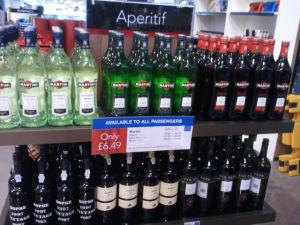 אלכוהול במבצע בדיוטי פרי של שדה התעופה מנצ'סטר