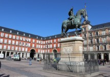 מבט על כיכר מיור בלב מדריד