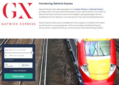 הסעות מגטוויק ללונדון - גטוויק אקספרס