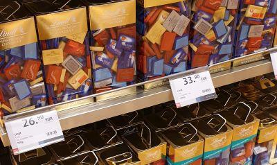 שוקולד לינדט מחיר - השוואה עולמית